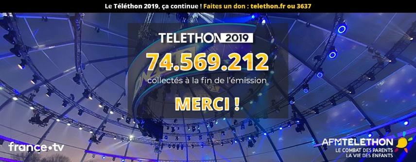 Illustration for news: Telethon 2019: the final counter reaches 74 569 212 euros