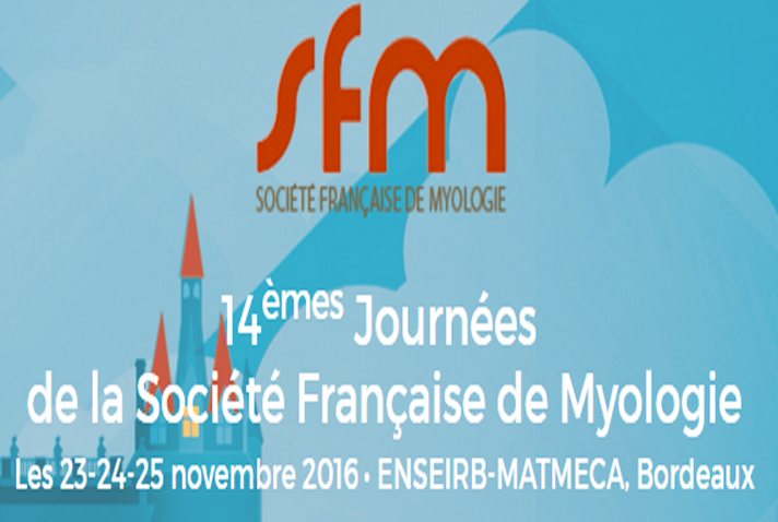 Illustration for article: The 14th Société Française de Myologie days will take place in Bordeaux from November 23rd to 25th 2016