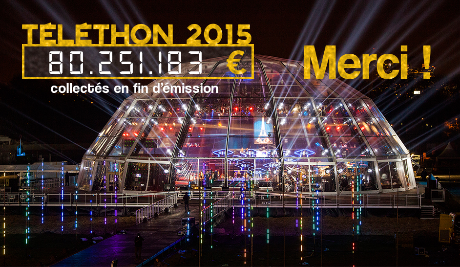 Illustration for article: Telethon fundraising event 2015 : 80 251 183 euros. More than ever THANK YOU!